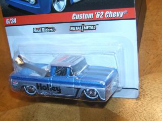 Hot Wheels Delivery Series Custom 62 Chevy Holley Blue Real Riders