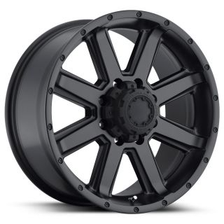 195 CRUSHER 17X9 BLACK TRUCK WHEEL 17 FORD F250 8X170 SATIN BLACK RIM