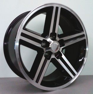 IROC 22 INCH WHEELS RIMS MACHINED W BLACK 5 LUG CHEVY GM TRUCK IMPALA