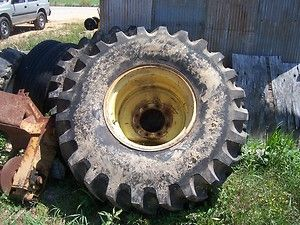 John Deere 4420 Combine Rims and New Tires
