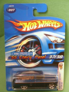 Hot Wheels 2006 First Edition 55 Chevy Panel USA Stickered Warning