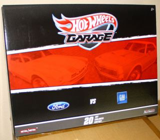 Hot Wheels Garage 1 64 Scale Ford vs Chevy 20 Cars Set