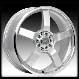 RACING 212MS KYOTO 4X100 4X4 5 CIVIC INTEGRA ACCORD SILVER WHEEL RIMS