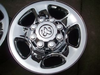 Dodge RAM Big Horn 2500 3500 Factory Chrome Clad Wheels Rims
