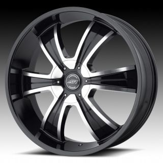 20 inch AR894 Black Wheels Rims 5x4 75 5x120 65 Chevy S10 Blazer GMC