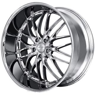MRR GT1 22x9 0 5x120 20 Hyper Silver Chrome Rims Wheels