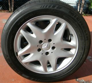 Benz CL500 00 06 Factory Stock Rims Wheels Michelin Tires 18 4