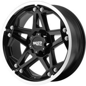 17 inch Moto Metal 960 Black Wheels Rims GMC Sierra
