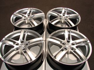 Wheels Tires Hyper Silver Maxima Altima Eclipse G35 TL RSX 5 Lug Rims