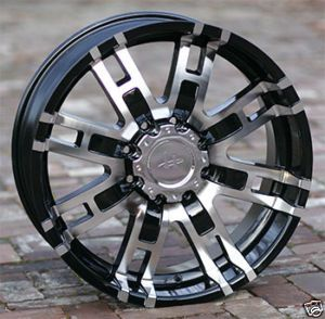 17 inch Black wheels rims HELO 835 H2 Chevy HD Gmc Dodge 2500 3500