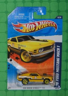 2011 Hot Wheels HW Main Street 169 70 Ford Mustang Mach 1