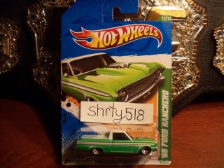 NEW 2012 HOT WHEELS TREASURE HUNT 65 FORD RANCHERO green DIECAST 12 15