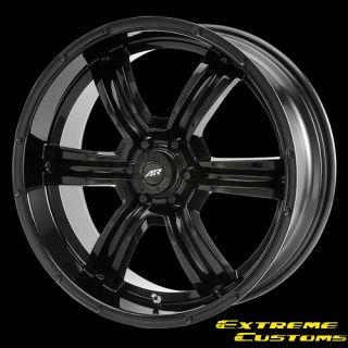 x8 American Racing AR320 Trench Gloss Black 6 Lug Wheels Rims