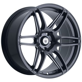 DECEPTION 17X7 5 4X100 ET45 MATTE BLACK WHEELS FIT MINI COOPER CIVIC