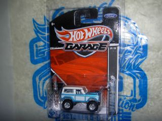 Hot Wheels Garage 67 Ford Bronco Real Riders Aqua 2