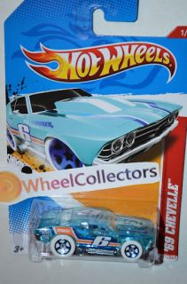 69 Chevelle Ice Blue 2012 Hot Wheels H Case Ice Racers