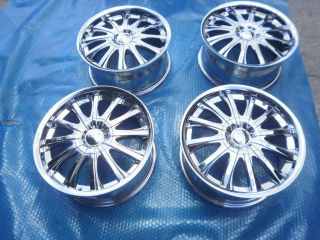 SET CUSTOM MERCEDES SMART CAR FORTWO 451 17 CHROME RIMS WHEELS BY ALBA