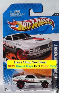 2011 Hot Wheels Kmart Dars 70 FORD MUSTANG MACH 1 Excl Color New HTF