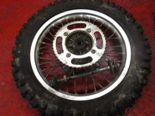 2001 Suzuki RM80 Complete Rear Wheel Rim Axel Disc 80 01