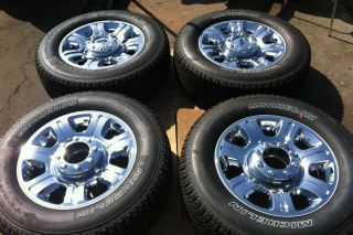 250 F250 20 Factory OEM Chrome CLAD Wheels Michelin Tires SUPERDUTY