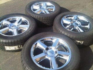 CHEVY TAHOE AVALANCHE LTZ SUBURBAN WHEELS TIRES BRAND NEW OEM FACTORY