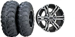 Quad Vinson 400 500 ITP SS212 Wheels 25 Mud Lite Tires Kit