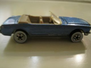Hot Wheels 1983 Light Blue Convertible Mustang Malaysia