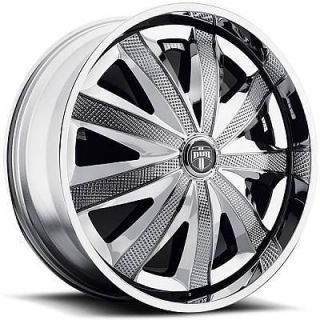 Kraay Wheel Set Chrome Spinner 24x9 0 rwd 5 6 Lug Rims 24inch