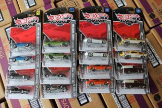 96 Hot Wheels Garage Series 2 Each of Assortments B C E 16 Ct Cases