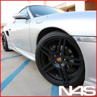 997 Carrera 2 Roderick RW5 Black Concave Staggered Wheels Rims