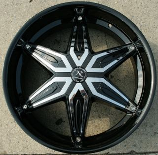 Draco KR11 22 Black Rims Wheels Maxima 94 Up 22 x 8 5 5H 35