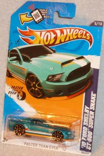 HOT WHEELS 210 Ford Shelby Mustang GT 500 Super Snake Col. #95 Faster