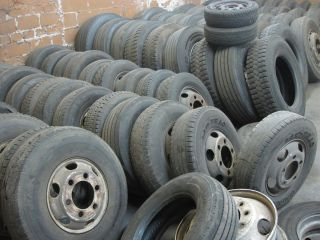 Lot of 90+ Truck Vehicle Used Wheels Tires & Rims International Hino