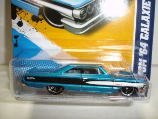 2012 HOT WHEELS CUSTOM 1964 GALAXIE 500 MUSCLE MANIA   FORD #113 CASE