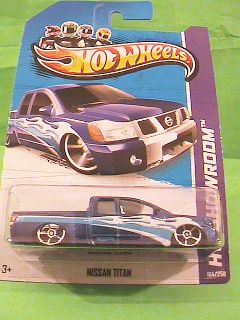 Hot Wheels Nissan Titan HW Trucks Midnight Blue HW Showroom 2013 New