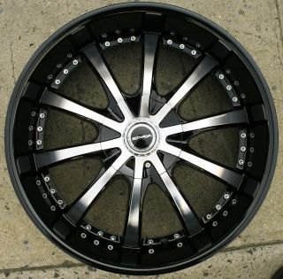 Strada Sole 202 22 Black Rims Wheels Dodge Charger V6 Hemi 22 x 9 5