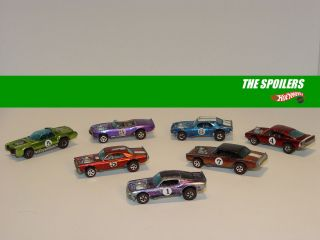 Vintage The Spoilers Set Hot Wheels Redline 7 Cars See Video