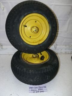John Deere 112 Tractor Riding Lawn Mower Front Tire Rim