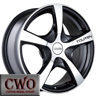 17 Black Touren TR9 Wheels Rims 5x100 5x114 3 5 Lug Mazda 3 6 WRX RSX