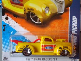 Hot Wheels 2011 Drag Racers Series 40 Ford Pickup Truck New Yellow 127