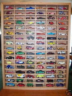 102 Car Display Case 1 64 Matchbox Hotwheels HO All Solid Oak