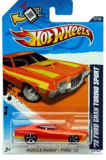 2012 Hot Wheels Muscle Mania Ford 117 1972 Ford Gran Torino Sport