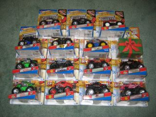 Lot of 15 Different 2011 2012 Hot Wheels Monster Jam 1 64 Scale Trucks