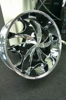 26 Rocknstarr 561 Rims Tires Pkg Chrome Wheels Black Inserts 5x115