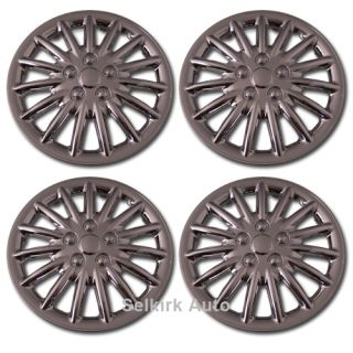 New Replacement Aftermarket Universal 13 inch Chrome Hub Caps Wheel