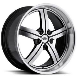Huntington Bolsa 22x9 Dodge 5x115 ET20 Black Wheels 1 Rim S