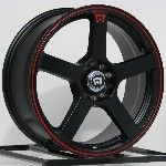 15 Inch 5x100 5x114 3 Wheesl Rims Motegi Racing Flat Black 5 Lug MR116