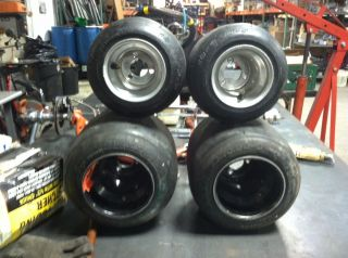 shifter go kart racing wheels and tires complete barstool racer race