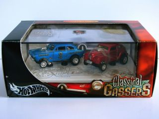 Hot Wheels Classical Gassers Die Cast 2 Car Set RARE Ltd Ed
