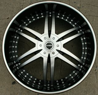 STRADA DENARO 126 26 BLACK RIMS WHEELS CHRYSLER 300 300C V6 V8 26 X 10